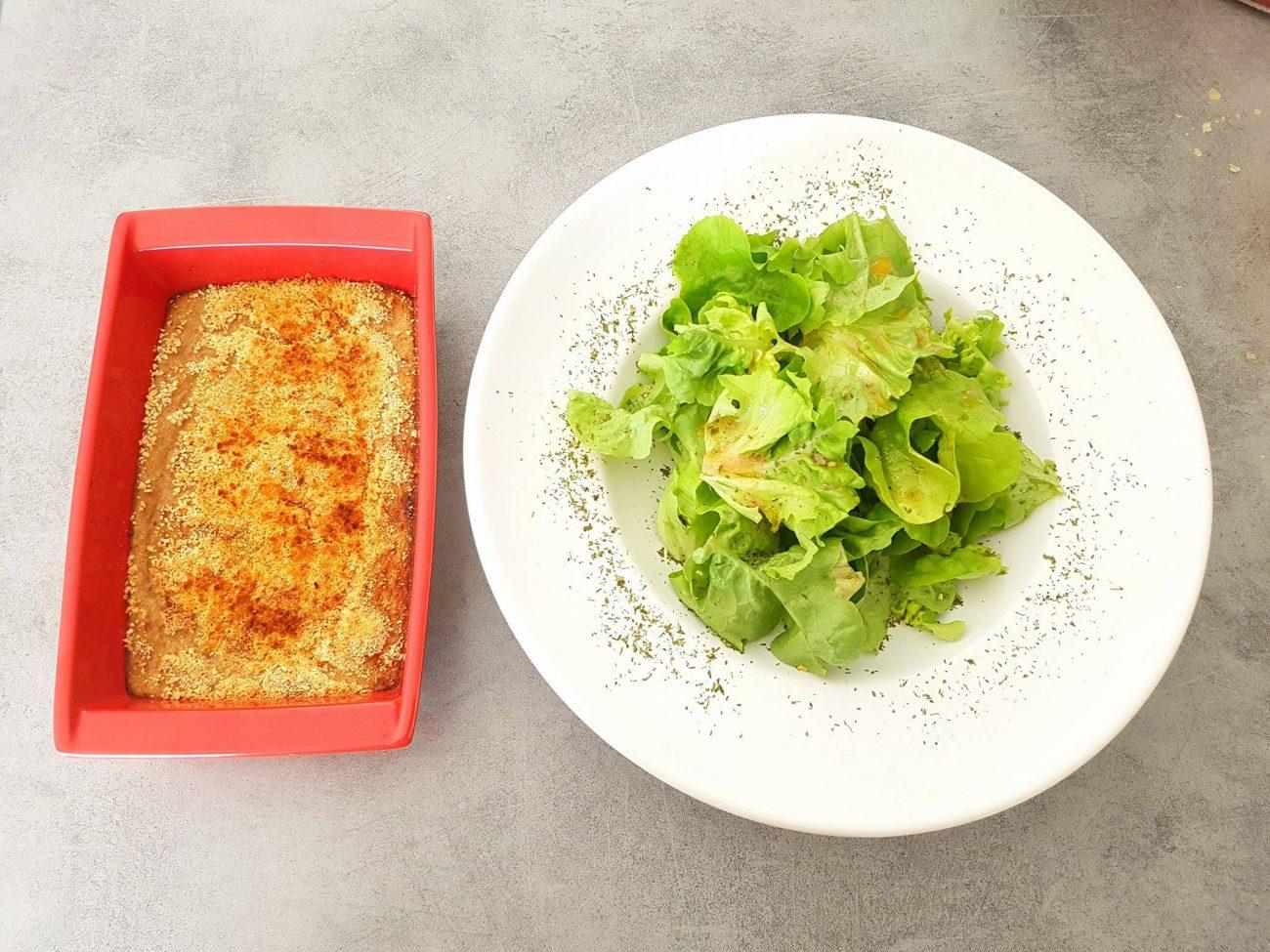 Gratin de thon et sa petite salade